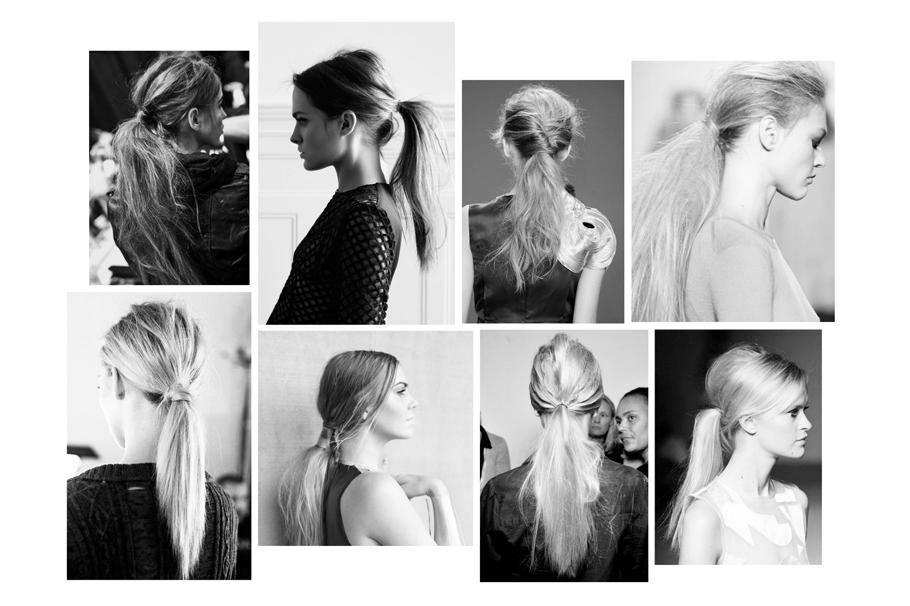 Messy ponytail inspiration - DEF